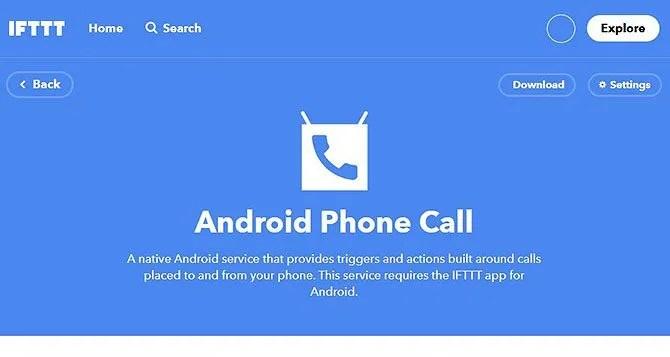 Уведомления о входящих звонках - IFTTT