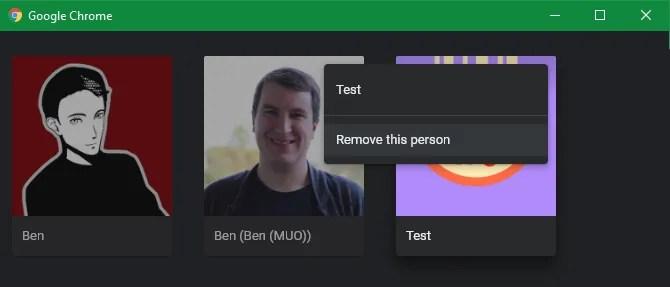Chrome Удалить человека
