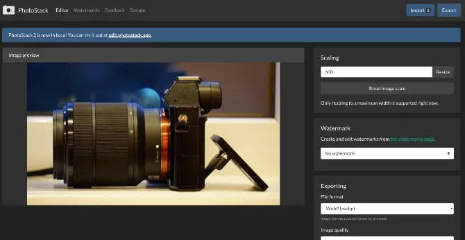 Batch resize images and add watermarks with Photostack