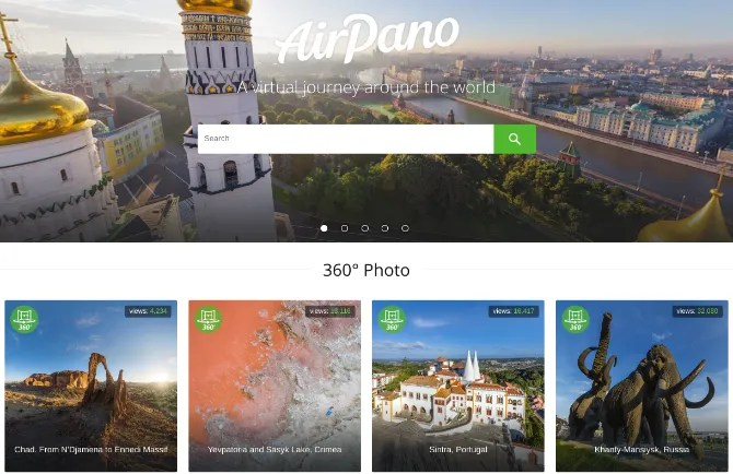 انطلق في رحلة افتراضية بزاوية 360 درجة لأهم النقاط في العالم من خلال AirPano