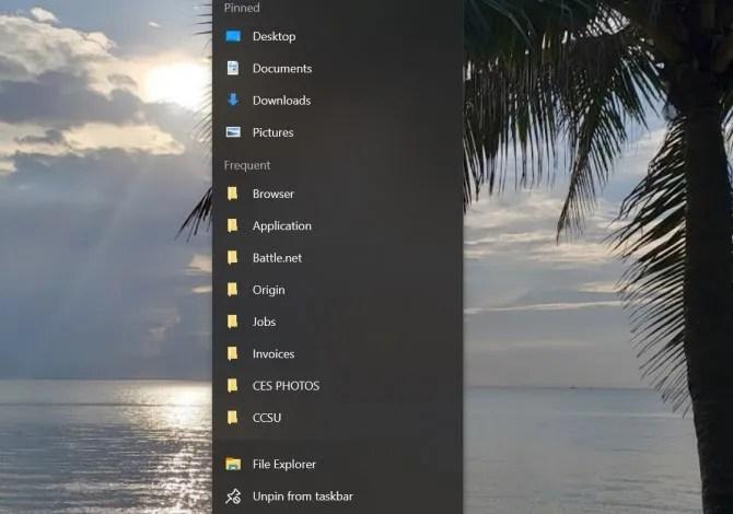 Очистка Windows Быстрый доступ