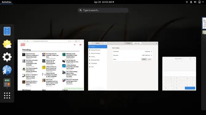 Среда рабочего стола GNOME Linux