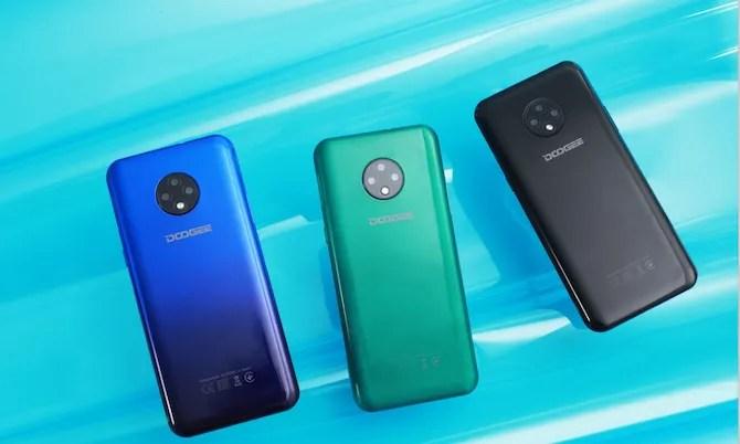 Смартфон DOOGEE X95 в нескольких цветах
