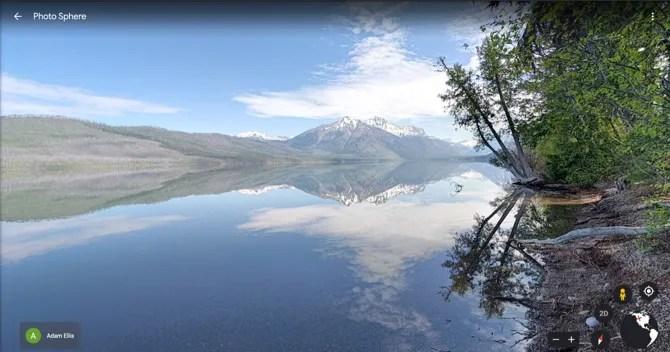 Google Earth Glacier NP Виртуальный тур