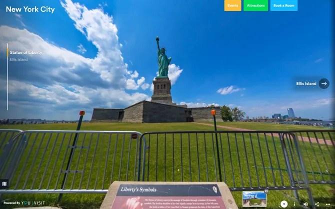 Нью-Йорк Статуя Свободы Виртуальный тур