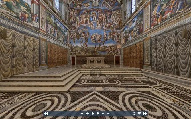 Виртуальный тур по Сикстинской капелле