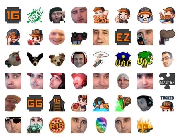 Кастомные эмоции для подписчиков Twitch