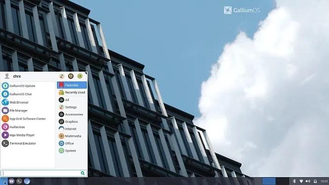 установить Linux Chromebook Chrx Gallium OS