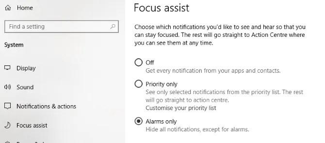 قم بتعطيل الإشعارات لتحسين ألعاب Windows 10