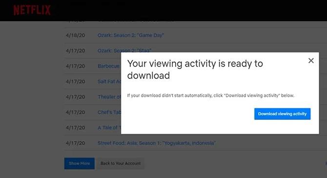 скачать Netflix просмотра деятельности