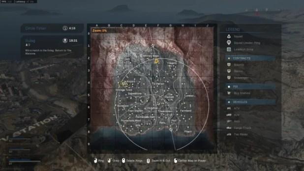 War zone map