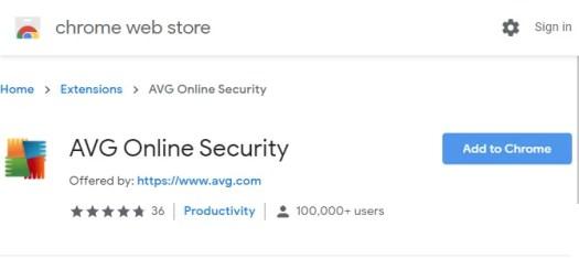 AVG Chrome Extension