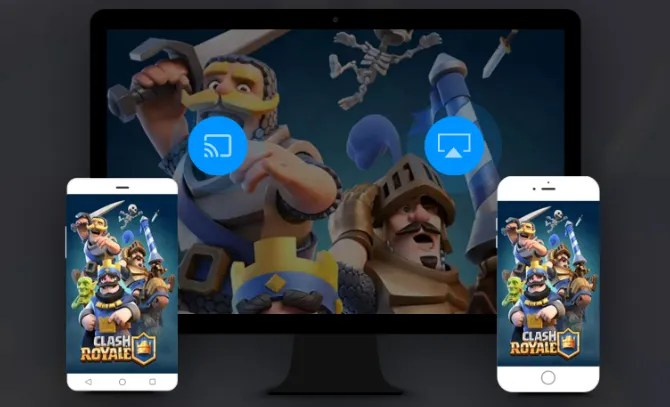 ApowerMirror показывает устройство iPhone и Android на телевизор