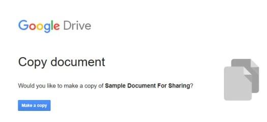 Make a Copy in Google Docs