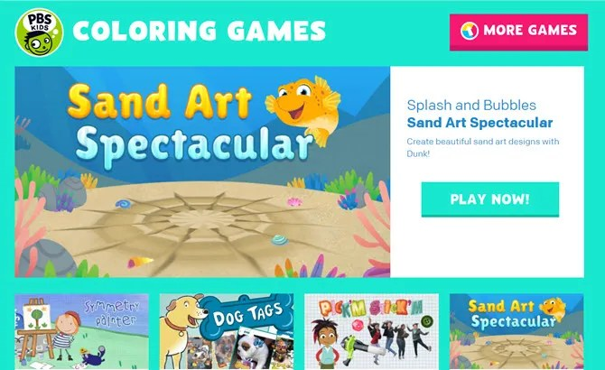PBS interactive art website for kids