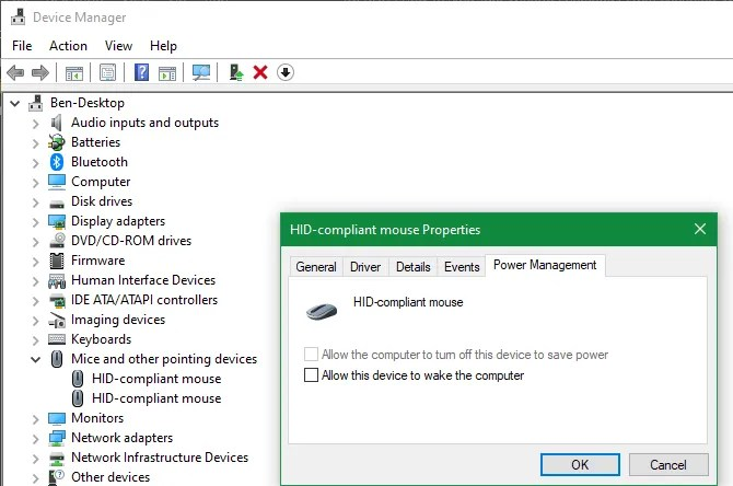 Windows Allow Device Wake Computer
