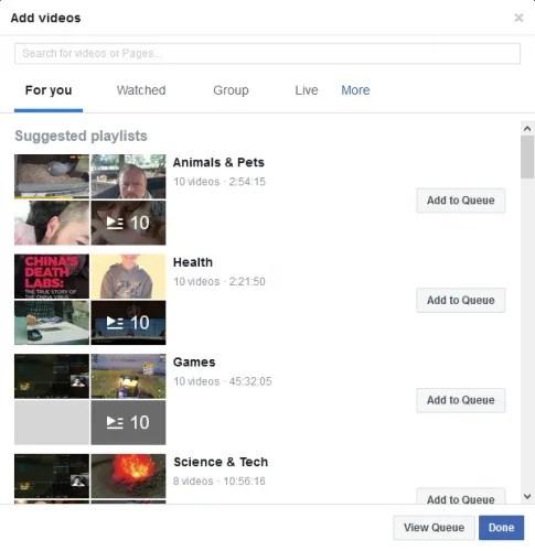 Facebook Watch Party добавить видео