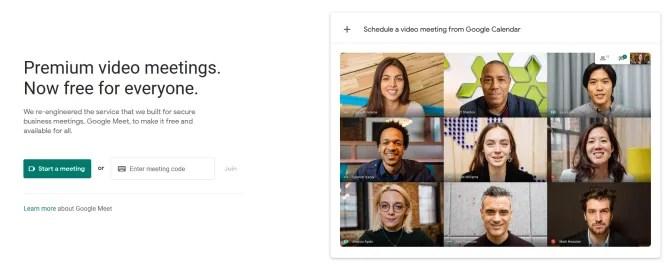 Google Meet comienza una reunión