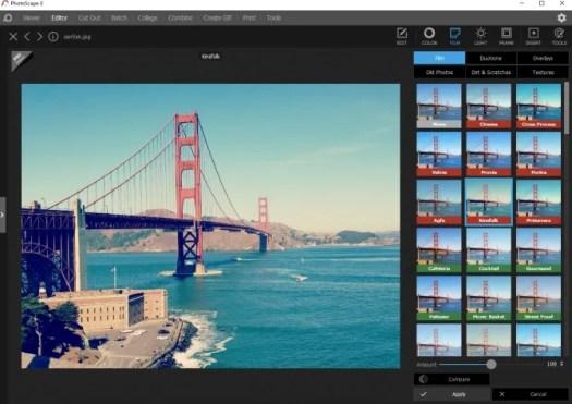 PhotoScape X Instagram Filter Desktop App