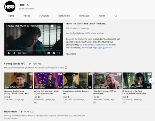 Watch HBO Clips Free on YouTube