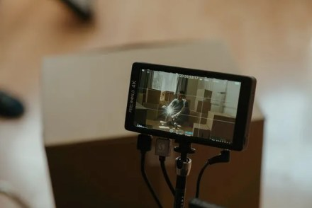Smartphone camera display with the grid