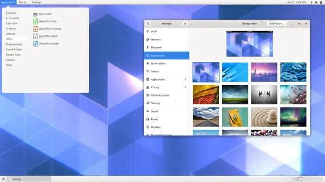Среда рабочего стола GNOME Classic