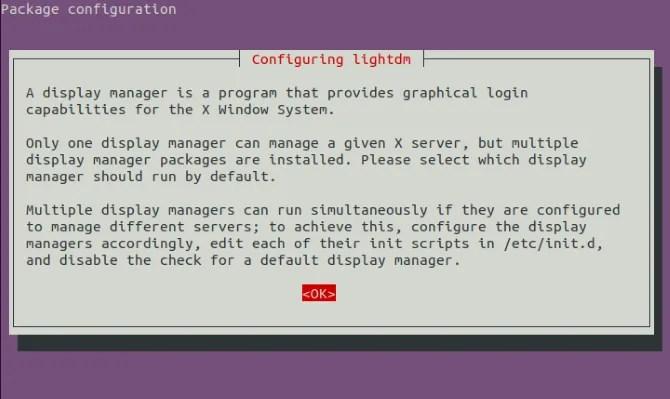 Конфигурация диспетчера Linux