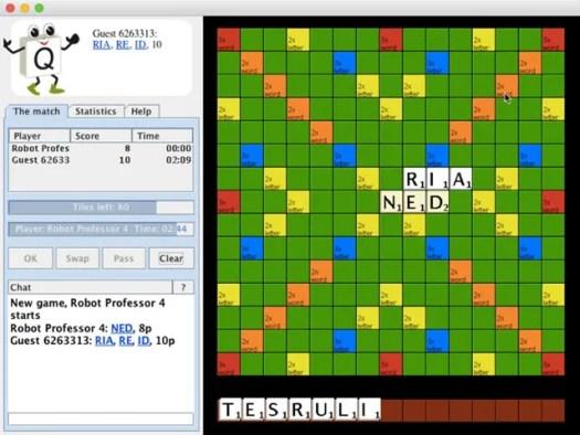 Quadplex is an online Scrabble game