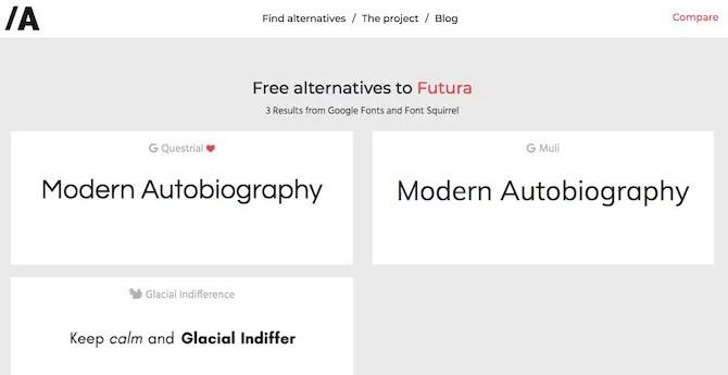 найти бесплатные шрифты по имени alternatype