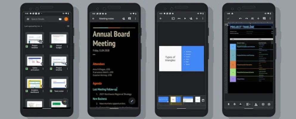 Google Docs, Sheets, and Slides Now Support Dark Mode
