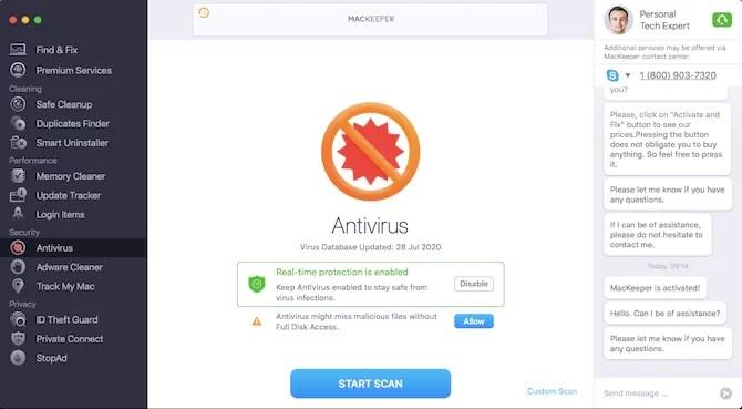 mackeeper антивирус