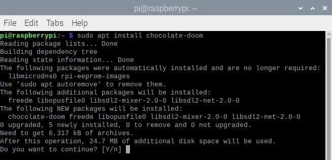 Установите Doom на Raspberry Pi