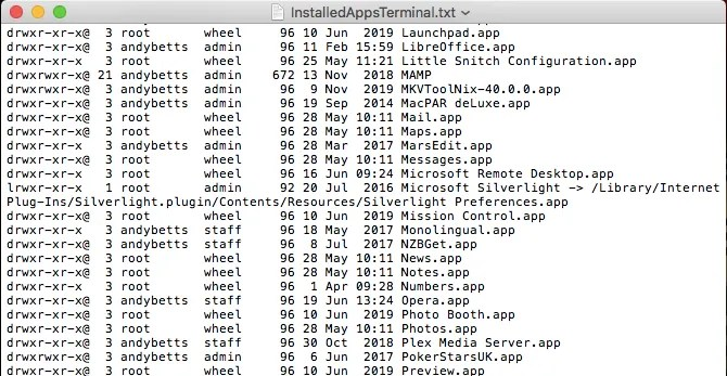 список терминальных приложений mac