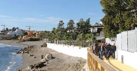 Tramo de Senda Litoral en Punta Doncella