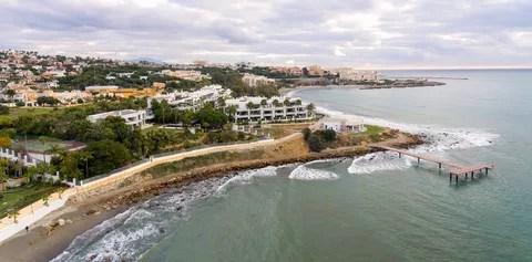 Vista aérea del nuevo tramo inaugurado en Estepona