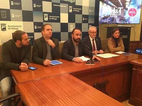 Daniel Iglesias, Jose Cabello, Mario Cortés, Ramón del Cid y Paula Morales RP Gastromarkegint 17-01-18