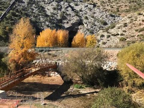 La nueva pasarela sobre el río Guadiaro