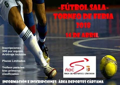 Cartel Torneo Feria Fútbol Sala 2018