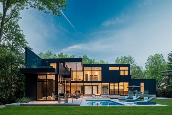 Modern glass house in Ontario on Modern Glass Houses  id=17267