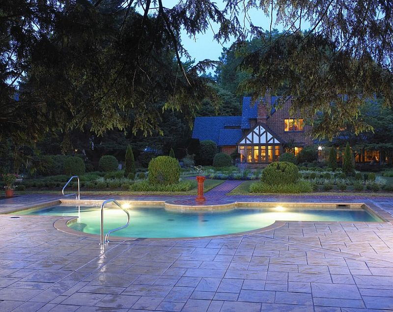 Outdoor Design Trend: 23 Fabulous Concrete Pool Deck Ideas on Pool Deck Patio Ideas  id=43451