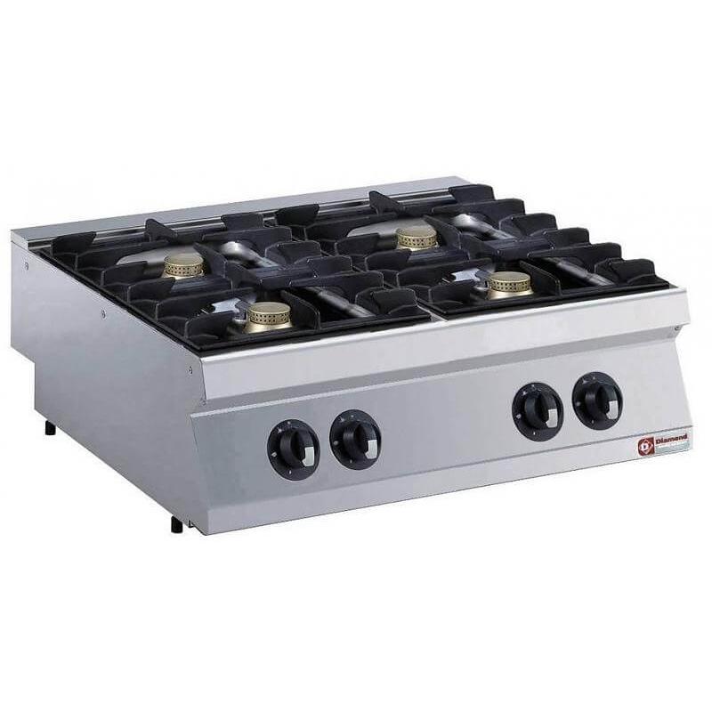cuisiniere gaz 4 feux 5 5 kw diamond g17 4f8t n