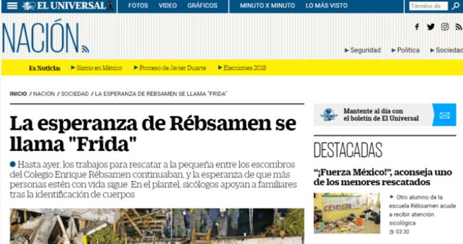 Le phénomène #Frida, créé par Televisa, a ému et induit en erreur plusieurs grands quotidiens nationaux © Clément Detry