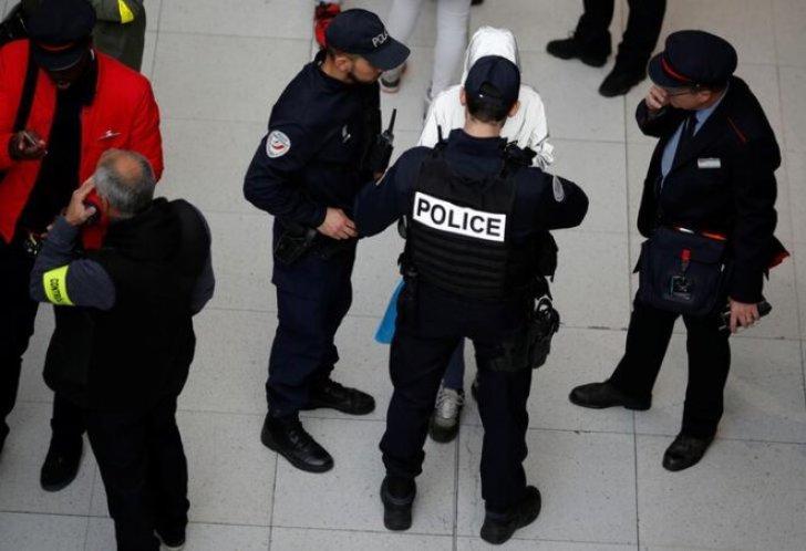 Un contrôle de police à la gare du Nord. © Reuters