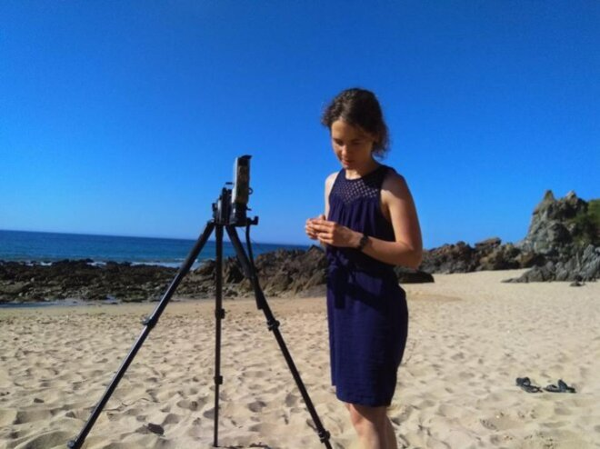 """Alice Heit sur le tournage des """"Eaux profondes"""" © Laurence Mermet"""