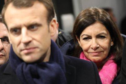 Emmanuel Macron et Anne Hidalgo, en février 2018. © Ludovic Marin/AFP/Pool