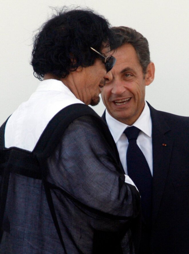 Muammar and Sarkozy