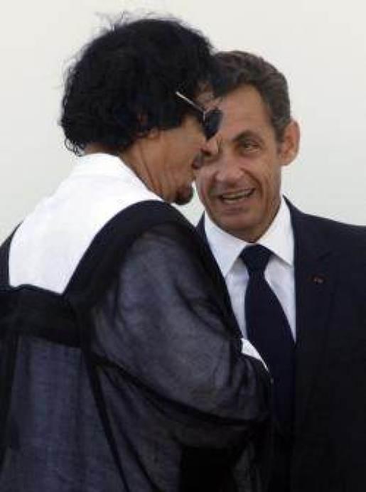 MM. Kadhafi et Sarkozy