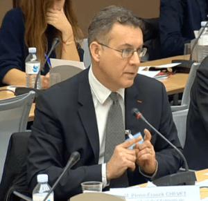 Pierre-Franck Chevet, président de l'ASN, auditionné à l'Assemblée nationale, le 13 février 2014.