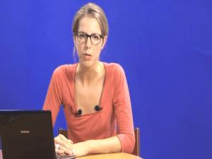 """Jeanne Pavard dans une vidéo du """"Cri du contribuable"""", où elle a travaillé entre 2007 et 2010."""