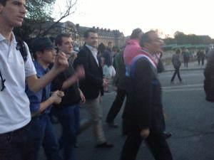 Hervé Mariton dans la manifestation.